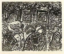 CHRISTINE WAHL - Interieur - Holzschnitt 1970