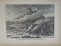 1903 Naturale Storia Tedesco Stampa Giapponese Vulcani