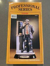 Emmett Kelly Jr. Teacher Figurine Professional Series Flambro # 9584 1986