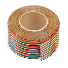 40 Way 40 pin Flat Color Rainbow Ribbon IDC Cable Wire Rainbow Cable