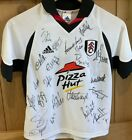 Original 2001 to 2002 Signed Fulham Football Club Home Shirt With Tags