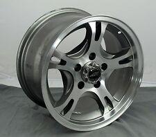 American Racing AR898 15 x 8 Dark Silver Wheel Machined Face 5 x 4.5 - 114.3