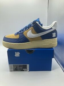 Nike Air Force 1 Low SP Undefeated 5 On It Blue Yellow Croc DM8462-400 Size 6.5M