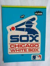 Chicago WHITE SOX Logo Sticker Card, Fleer. (1985). Collectible- Free Ship. USA