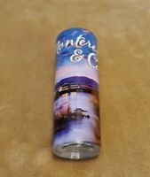 NEW tall shot glass from Monterey Carmel colorful wrap travel souvenir