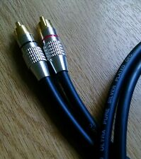 Van Damme - Silver Plated OFC RCA Ultra Cable Black 1m