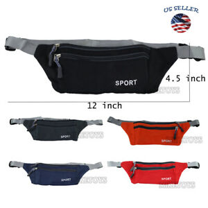 US Women Men Waist Bag Fanny Pack Belt Thin Bag Phone Coin Pouch Sport