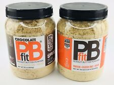 2 PACK PB Fit All-Natural Chocolate & Peanut Butter Powder Organic 60oz Keto