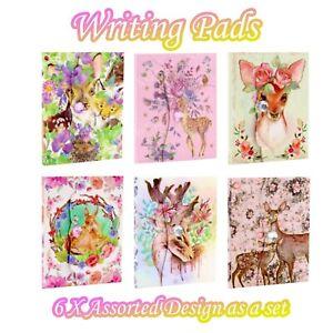6x Mini Notebook 7.5cm x 10cm 75 Sheets Magnet Memo Writing Pad Pocket Diary