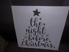 The Night Before Christmas Stencil