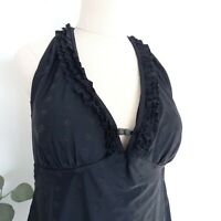 City Chic Plus Size S Black Bather Swimmers Top Halter Neck Beachwear