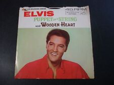 ELVIS PRESLEY PUPPET ON A STRING 45 RECORD WOODEN HEART