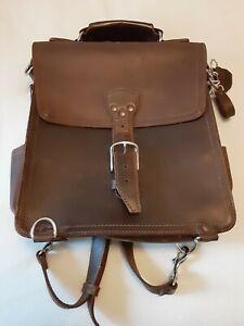 Vintage Saddleback leather company messenger  bag