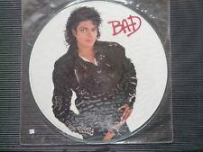 Michael Jackson -BAD- Picture Vinyl LP USA 1987 Epic Records/CBS  -MINT- RAR