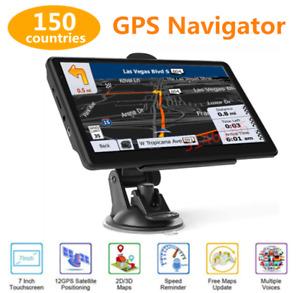 "7"" HD TouchScreen Car&Truck GPS Navigation Navigator Map 8GB 128MB USA UK CA EU"