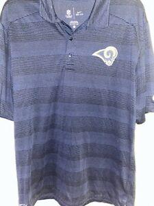 NFL Los Angeles Rams Nike Dri-Fit On Field Polo Shirt Size L