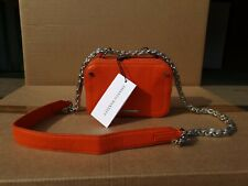 Amanda Wakeley The Chain  Orange cream Leather Bag New