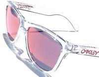 NEW* Oakley Frogskins Clear Crystal w TORCH Iridium Sunglass oo9013