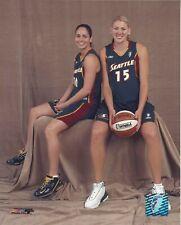 SUE BIRD & LAUREN JACKSON 8x10 WNBA LICENSED PHOTOGRAPH #2 SEATTLE STORM UCONN