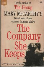 The Company She Keeps - Mary McCarthy - 6th Printing - PB - 1964 - Dell Books.