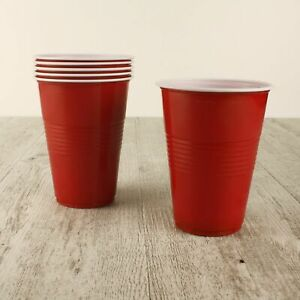 20/40/60/100 American RED Party CUPS Plastic Beer Drink Pong 500ml Frat College
