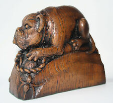 Bull Dog Edwardian Reproduction Carving Unique Scotland Gift St Giles Cathedral