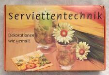 German Decoupage Kit Serviettentechnik Dekorationen Wie Gemalt  Stanger New