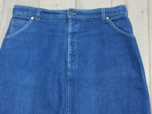 JEANS GONNA LEVIS STRAUSS 925 W36 L23 DENIM BLU VINTAGE GRADE A+