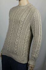 Polo Ralph Lauren Large L Beige Rollneck Cable-knit Sweater NWT