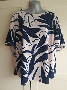 Ladies Principles Size UK 18 Pink & Blue Blouse Top