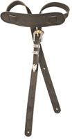 Genuine Gretsch Vintage Tooled Leather Adjustable Guitar Strap, (Black)