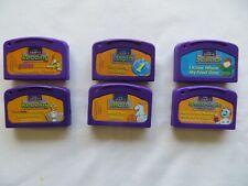6 Lot Leap 1 Cartridges Purple LeapFrog LeapPad Reading Math Science Spanish