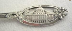 ANTIQUE WATSON CO STERLING SILVER BOSTON MA STATE HOUSE SOUVENIR SPOON
