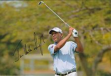 Jeev Milkha SINGH SIGNED AUTOGRAPH Golf Photo AFTAL COA India European Tour WIN