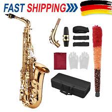 Alt Saxophon Eb Saxophone Messing Sax Altsaxophon mit Mundstück Koffer Kit Set