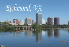 Richmond, Virginia, City, Skyline, VA, Travel Souvenir Fridge Magnet VARI200