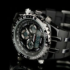 Infantry Mens LCD Digital Quartz Wrist Watch Sports Chronograph Army Black Cool