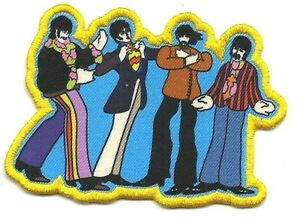 BEATLES yellow submarine sub band 2019 PRINTED EMBROIDERED IRON/SEW ON PATCH