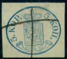 FINLAND #3 5kop Large Pearls, used w/ms cancel large margins Scott $1,550.00