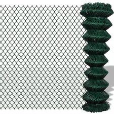 Green Galvanized Steel Mesh Wire Chain-link Fence PVC Coating Multi Sizes