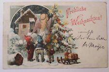 """""""Weihnachten, Zwerge, Engel, Christkind, Weihnachtsbaum"""" 1900 ♥ (33693)"""