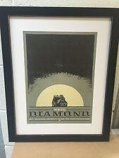 Neil Diamond A3 Concert Poster Framed. Classic Gig Art.