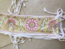 New listing Serena & Lily Crib Bumper Cover with Zipper ~ Washable ~ Floral Birds Beautiful