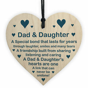 Dad And Daughter Gift Hanging Heart Fathers Day Birthday Gift For Dad Poem