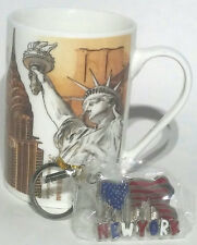 New York Coffee Mug Tea Cup 10 oz with Free Key Chain New York Skyline
