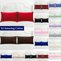 2X Pillow Case Luxury Cases Polycotton Pair of Pillow Cover Bedroom Housewife UK