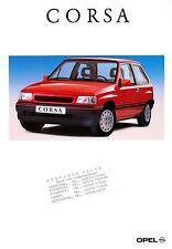 OPEL CORSA PROSPEKT 8/92 brochure 1992 auto automobili Germania trasporto Europa