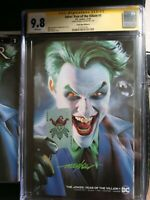 Joker year of the villain 1 Variant Cgc SS 9.8 Signed By Mike Mayhew W/read Copy