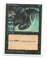 Magic the gathering ~ MTG ~ 4x  Dark Ritual ~ 4th Edition ~ LP