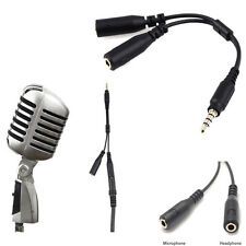 New 3.5mm Stereo Audio Male to 2 Female Headphone Mic Y Splitter Cable Adapter